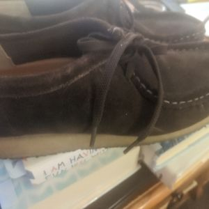 Wallabee shoes by Clarks